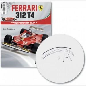 Ferrari 312 T4 in scala 1:8 (Gilles Villeneuve, 1979) Struttura volante, box contatori volante, cavi