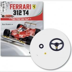 Ferrari 312 T4 in scala 1:8 (Gilles Villeneuve, 1979) Volante, parte 1 volante, badge volante, bottone volante