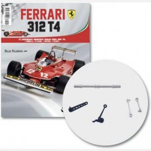 Ferrari 312 T4 in scala 1:8 (Gilles Villeneuve, 1979) Barra bilanciamento, parte sx e dx barra di bilanciamento ruota ant, supporti