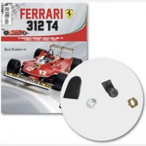 Ferrari 312 T4 in scala 1:8 (Gilles Villeneuve, 1979) Condotto raffreddamento freni dx, supporto freno disco ant. dx, copertura cerchione