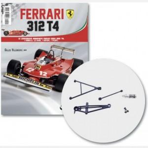 Ferrari 312 T4 in scala 1:8 (Gilles Villeneuve, 1979) Sospensione ant. dx, albero sospensione ant. e coperchio, molla, braccetto, screw