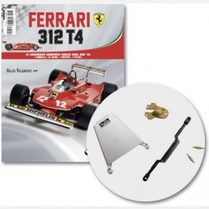 Ferrari 312 T4 in scala 1:8 (Gilles Villeneuve, 1979) Leva rotazione, coperchio cambio, cavo pinza freno ruota anteriore, cavi pinza freno