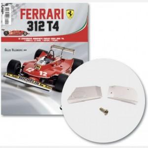 Ferrari 312 T4 in scala 1:8 (Gilles Villeneuve, 1979) Serbatoio acqua, serbatoio olio, screw N, spare screw N, screw P, scare screw P