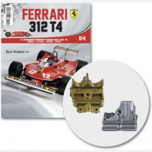 Ferrari 312 T4 in scala 1:8 (Gilles Villeneuve, 1979) Parte inferiore box trasmissione, cover box trasmissione, viti N