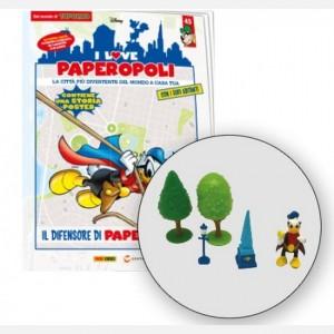 I Love Paperopoli Paperinik + obelisco + 1 lampione + 2 alberi