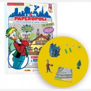I Love Paperopoli Uscita N°5 (1 parte casa pico de Pico de Paperis + cartelli collina + 1 pezzo base + Archimede + 1 A)