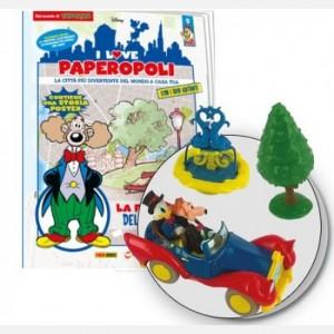 I Love Paperopoli Uscita n° 9 (fontana + auto Zio Paperone + 1 tasello base)