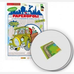 I Love Paperopoli Car Bassotto + 2 alberi + 1 pezzo base
