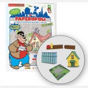 I Love Paperopoli 1 parte casa di Anacleto + staccionata di Paperino con cancello + 1 pezzo base