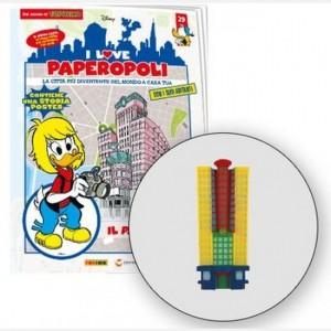 I Love Paperopoli 1 parte grattacielo papersera + 1 pezzo base