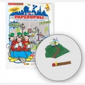 I Love Paperopoli Roulotte bassottiI + collina roulotte + staccionata con cancello + 1 pezzo base