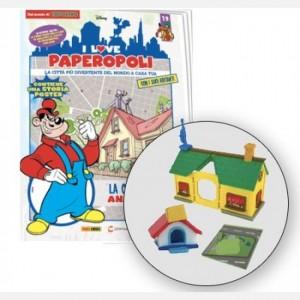 I Love Paperopoli 1 parte casa di Anacleto + cuccia cane Bassotti + 1 pezzo base