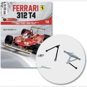 Ferrari 312 T4 in scala 1:8 (Gilles Villeneuve, 1979) Frame sinistro, pinza freno ruota posteriore, viti g