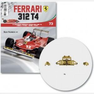Ferrari 312 T4 in scala 1:8 (Gilles Villeneuve, 1979) Connettore alettone, poster, connettore sx e dx alettone, poster, viti d