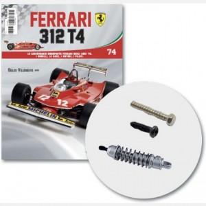 Ferrari 312 T4 in scala 1:8 (Gilles Villeneuve, 1979) Asta sx, cover sx sospensione posteriore,molla,braccetto 1.0 X 6mmL,viti E e K