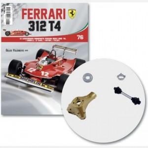 Ferrari 312 T4 in scala 1:8 (Gilles Villeneuve, 1979) scomparto sx sospensione post, asse trasmissione ruota post, scompart. cerchio