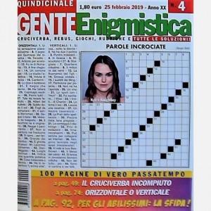 GENTE Enigmistica Uscita N° 4 del 2019 (Anno XX)