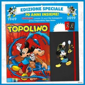 Disney Topolino - 70° Anniversario Topolino N° 3308 + Topo Notes (2 diverse colorazioni)