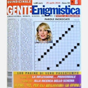 GENTE Enigmistica Uscita N° 8 del 2019 (Anno XX)