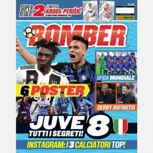BOMBER - La rivista ufficiale Panini sul calcio Maggio 2019 + 2 Cards Limited Edition (KROSS Germania e PERISIC Croazia) + 2 Bustine Road to UEFA EURO 2020 Adrenalyn XL