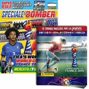 BOMBER - La rivista ufficiale Panini sul calcio Speciale BOMBER + Album FIFA's Women World Cup France 2019 + Bustina GomMaglie