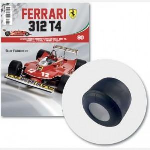 Ferrari 312 T4 in scala 1:8 (Gilles Villeneuve, 1979) Pneumatico destro posteriore + schiuma