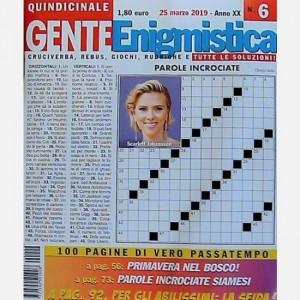 GENTE Enigmistica Uscita N° 6 del 2019 (Anno XX)
