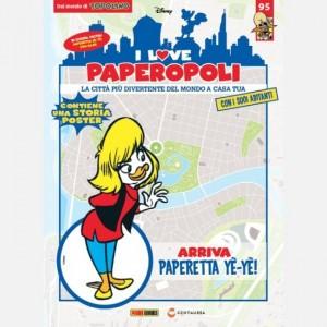I Love Paperopoli Paperetta YeYe con scooter + 1 pezzo Base