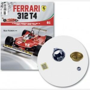 Ferrari 312 T4 in scala 1:8 (Gilles Villeneuve, 1979) Cerchio interno ed esterno ruota poster dx, cover bocchetta cerchio, viti