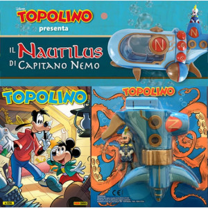 Disney Topolino presenta Il Nautilus di Capitano Nemo  Uscita Nº 3356 del 18/03/2020 Periodicità: Mensile Editore: PANINI S.p.A.WALT DISNEY