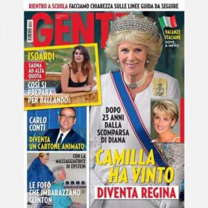 GENTE  Uscita Nº 35 del 28/08/2020 Periodicità: Settimanale Editore: Hearst Magazines Italia