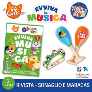 44 Gatti & Lo Zecchino d'Oro - Evviva la Musica  Uscita Nº 2 del 30/10/2020 Periodicità: Mensile Editore: Tridimensional S.r.l.