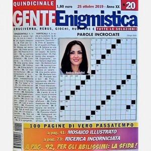 GENTE Enigmistica Uscita N° 20 del 2019 (Anno XX)