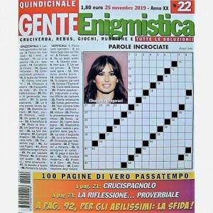 GENTE Enigmistica Uscita N° 22 del 2019 (Anno XX)
