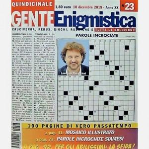 GENTE Enigmistica Uscita N° 23 del 2019 (Anno XX)