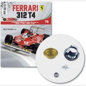 Ferrari 312 T4 in scala 1:8 (Gilles Villeneuve, 1979) Cerchione ruota posteriore interno ed esterno sx, bocchetta-vite-cover cerchio