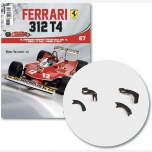 Ferrari 312 T4 in scala 1:8 (Gilles Villeneuve, 1979) Tubo sx e dx serbatoio di raffreddamento, tubo 1 e 2 serbatoio di raffreddamento