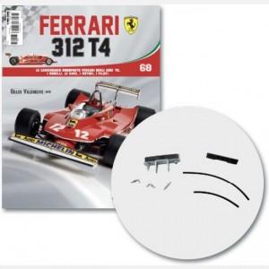 Ferrari 312 T4 in scala 1:8 (Gilles Villeneuve, 1979) Scatola trasmissione e cover, tubo trasmissione, cover cavi, cavo