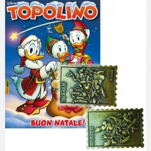 Disney Topolino - Francobolli in metallo Topolino N° 3291 + 5° e 6° Francobollo in metallo