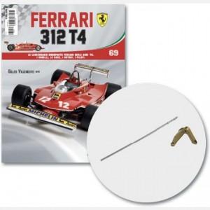 Ferrari 312 T4 in scala 1:8 (Gilles Villeneuve, 1979) Frame destro pinza freno ruota posteriore, barra frizione, viti g