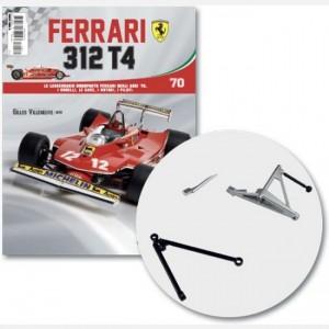 Ferrari 312 T4 in scala 1:8 (Gilles Villeneuve, 1979) Parte sup sx, frame superiore e inferiore sx della sospensione posteriore, viti d