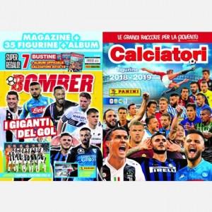 BOMBER - La rivista ufficiale Panini sul calcio Dicembre 2019 + Album Calciatori 2018 - 2019 + 35 figurine