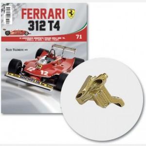 Ferrari 312 T4 in scala 1:8 (Gilles Villeneuve, 1979) Frame sinistro pinza freno ruota posteriore, viti g