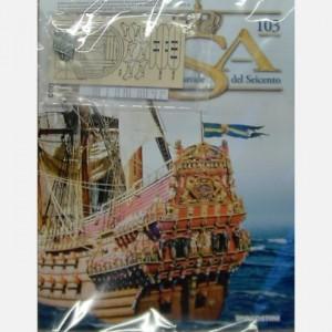 Costruisci il maestoso Vasa Decorazioni di poppa C143, C143a, C143b, C143c (4 pezzi), Componenti di una coffa
