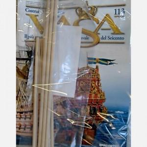 Costruisci il maestoso Vasa Tettuccio e decorazioni di una galleria C152, C152a, C152b, C152c, C152d, C152e (set of 6pcs ), Tondini di legno diam. 7 x 455 mm, Tondini di legno diam. 6 x 300 mm, Tondini di legno diam. 4 x 300 mm