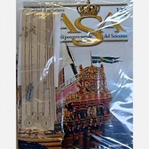 Costruisci il maestoso Vasa Decorazioni C172, Tavoletta di legno con pezzi pretagliati, Elementi in ottone, Listelli da 2 x 2 x 200 mm