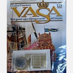 Costruisci il maestoso Vasa Cannoniere rotonde C97, Elementi in ottone, Chiodini, Decorazioni C61, Filo di ottone ø0,5 mm (2 metri)