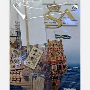Costruisci il maestoso Vasa Listelli da 2 x 2 x 300 mm, tondino diam. 6 x 55 mm, Componenti argano, Travetti dei pagliolati