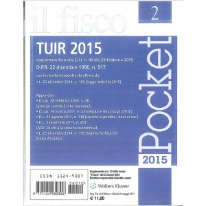 TUIR 2015 f.to Tascabile ediz.Il Fisco