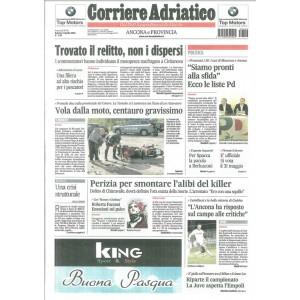 CORRIERE ADRIATICO edizione ANCONA - Sabato 4 Aprile